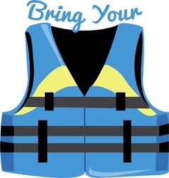 Bring your vest vector