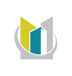 Building construction company logo vector