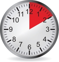 Clock with red 10 minute deadline vector image vector image
