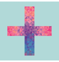cross made of triangles vector image