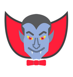 dracula vampire flat icon halloween and scary vector image vector image