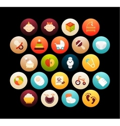 Flat icons set 27 vector