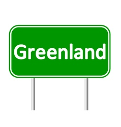 Greenland road sign vector