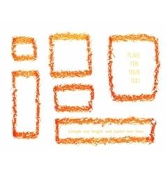 Grunge frames collection vector