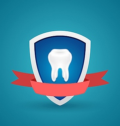 Icon protected human teeth vector image