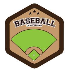 isolated baseball emblem vector image vector image
