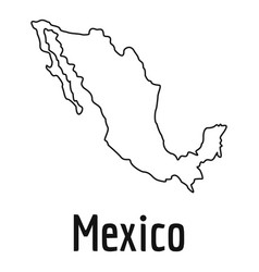 mexico map thin line simple vector image