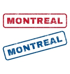 Montreal rubber stamps vector
