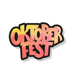 oktoberfest logotype oktoberfest celebration vector image