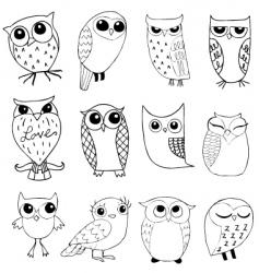 owlstravaganza vector image vector image