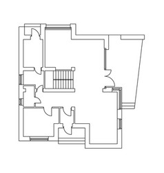 Plan cottage vector