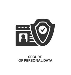 protection of personal data icon vector image vector image