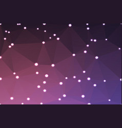 Purple blue pink geometric background with lights vector
