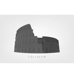 Roman Colosseum isolated on white background vector image vector image