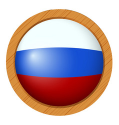Round icon for flag of russia vector
