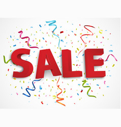 Sale promotion background vector