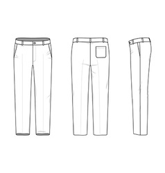 Simple outline drawing of a pants vector
