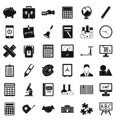 Small computer icons set simple style vector