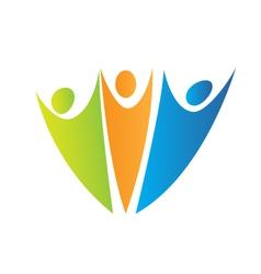 Swooshes figures logo vector