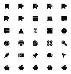 Universal mobile line icons 8 vector