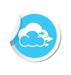 Weather forecast wind icon vector