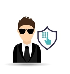Man in suit icon vector