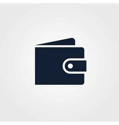 Wallet icon simple vector