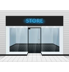 Shop front or store view vector
