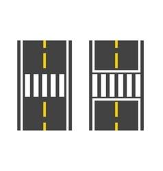Pedestrian crossing on road vector