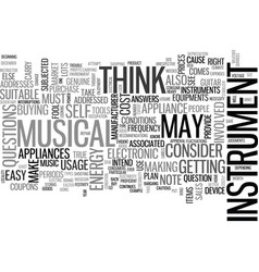 Before you buy a musical instrument text word vector