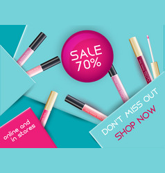 Lipgloss package design vector