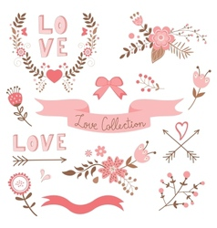 Elegant love collection vector