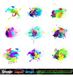 Splash grunge design elements vector