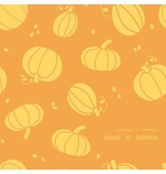 Thanksgiving golden pumpkins frame corner pattern vector