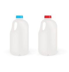 Milk Bottles vector image