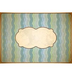 Weathered vintage cardboard frame vector image
