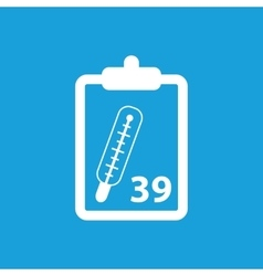 Temperature measurement icon white vector
