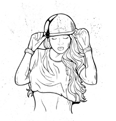 Rap attractive girl vector