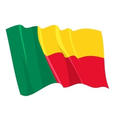 Political waving flag of benin vector