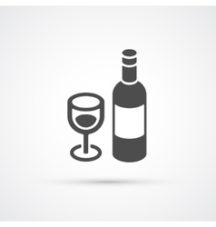 Bottle of wine trendy flat icon vector