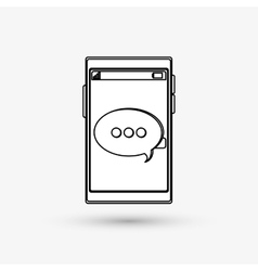 Communication design bubble icon flat vector