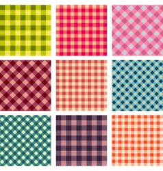 abstract seamless square pattern set vector image vector image