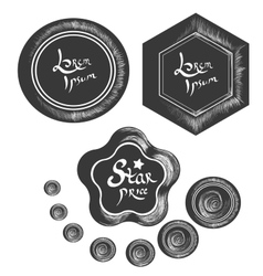 Badges and lables part 3 vector