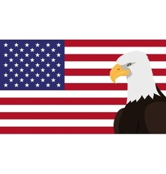 Bald Eagle Flat Design vector image vector image
