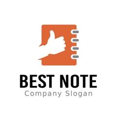 Best Note Design vector image