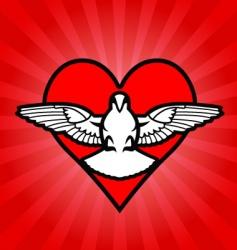 bird heart background vector image vector image