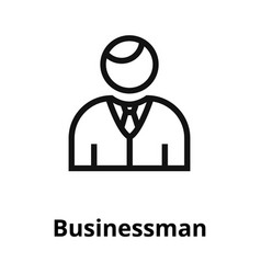 businessman thin line icon vector image vector image