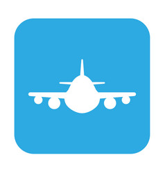 button with the icon of a airplane vector image