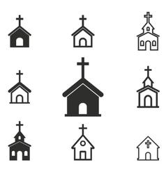 Church icon set vector