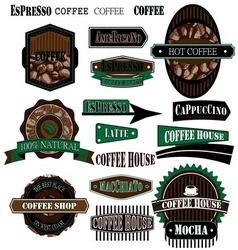 coffee company 02 vector image vector image